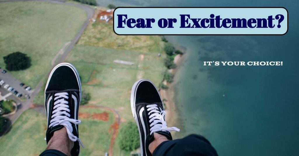 guy skydiving, is fear holding you back